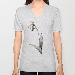 Venus-slipper orchid Paphiopedilum Supersuk x Raisin Pie Unisex V-Neck