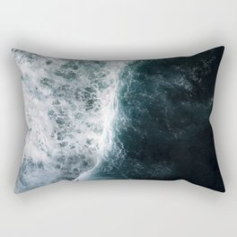 Oceanscape - White and Blue Rectangular Pillow