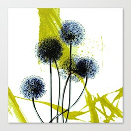 blue dandelion on abstract background Canvas Print