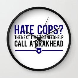 Cops Wall Clock