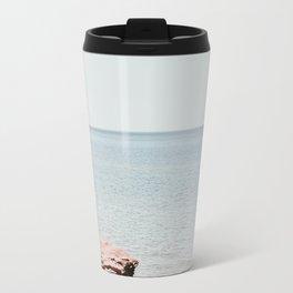 Pink rock ocean Travel Mug