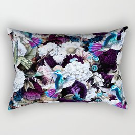 hummingbird paradise ethereal autumn flower pattern nfd Rectangular Pillow