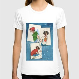 3 girl square T-shirt