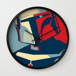 Boba Fett for president  Wall Clock