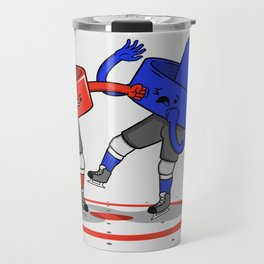 Air Hockey Brawl Travel Mug