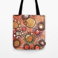 brown Tote Bags featuring brown by Mojca G. Vesel