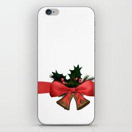 xmas decoration bells iPhone Skin