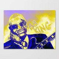 B.B. King Blues Legend Canvas Print