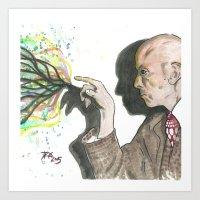 crowley Art Prints featuring Mr. Crowley by Nicholas Dubay