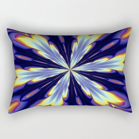 A Burst of Blue Rectangular Pillow