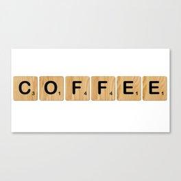 Scrabble - Coffee Canvas Print