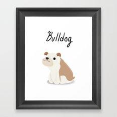 Bulldog - Cute Dog Series Framed Art Print