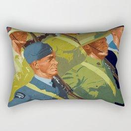 Together - WWII Propaganda Poster Rectangular Pillow