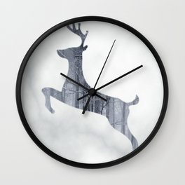 Reindeer Forest Wall Clock
