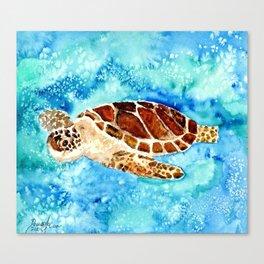Sea Turtle Painting Canvas Print