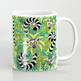 Lemurs on Madagascar Rainforest Coffee Mug