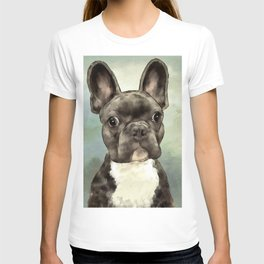 Frenchie Wants To Know T-shirt