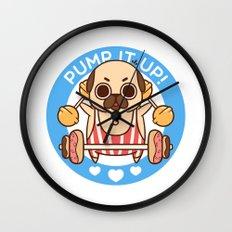 Pump It Up, Puglie! Wall Clock