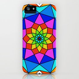 Abstract painted mandala iPhone Case