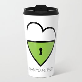 Open Your Heart Travel Mug