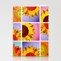 sunflowers Stationery Cards featuring sunflowers by mark ashkenazi
