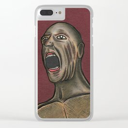 Naked Scream Clear iPhone Case