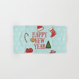New Year, Cristmas, winter holidays Hand & Bath Towel