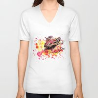 smaug V-neck T-shirts featuring Watercolor Smaug by Trinity Bennett
