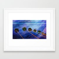 palms Framed Art Prints featuring Palms by Psocy Shop