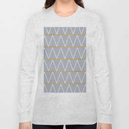 Gold and grey zigzag Long Sleeve T-shirt
