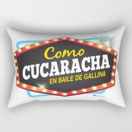 Como cucaracha en baile de gallina Rectangular Pillow