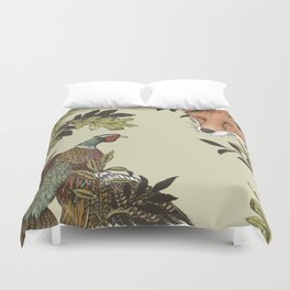 Fox & Pheasant Duvet Cover
