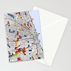 Chicago Mondrian Stationery Cards
