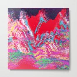 Glitch Mountain Metal Print