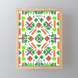 Colorful Forest Shape Pattern Design Framed Mini Art Print