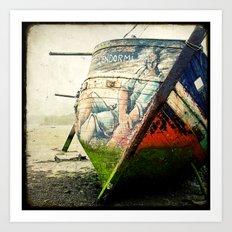 Boat Wreck #12 Art Print