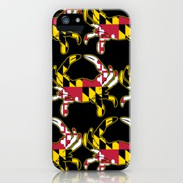 Maryland Flag Crab iPhone Case