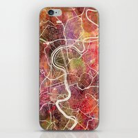 rome iPhone & iPod Skins featuring Rome by MapMapMaps.Watercolors