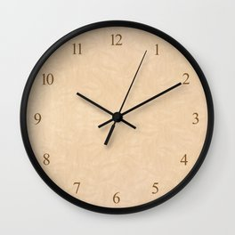 Ecru pattern parchment texture abstract Wall Clock