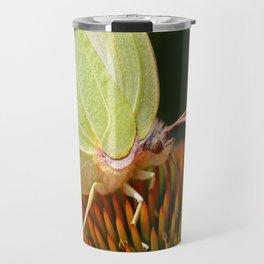 Eye of a yellow butterfly Travel Mug
