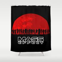 mass effect Shower Curtains featuring Mass Effect by TxzDesign