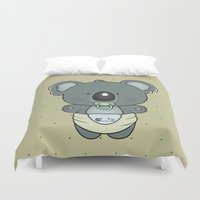 cartoons Duvet Covers featuring Baby koala by mangulica