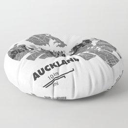 Auckland Map Floor Pillow