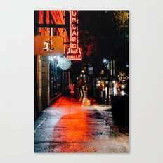 City Lights on City streets Canvas Print