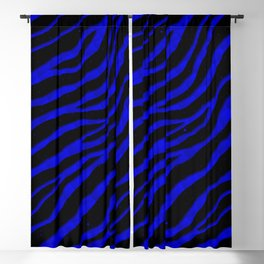 Ripped SpaceTime Stripes - Blue Blackout Curtain