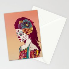 Mexican Skull Lady Stationery Cards