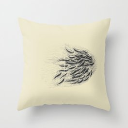 in the end starts a new beginning (salmon spawning, sequim, washington). Throw Pillow