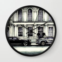 THE STREET OF LONDON IN GREYS Wall Clock