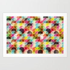Circle Colorful Art Print