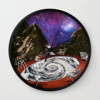 bath Wall Clocks featuring Hurricane bath by Blaz Rojs